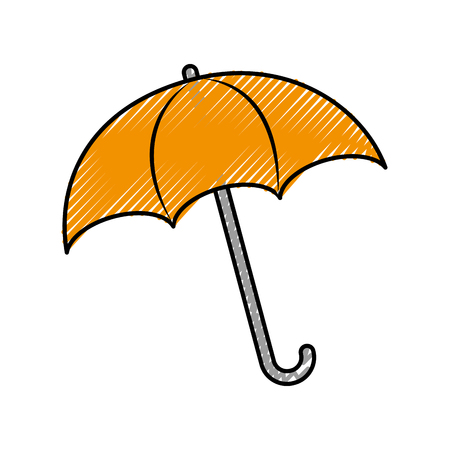 umbrella rainy season protection accessory vector illustration Banco de Imagens - 86318360
