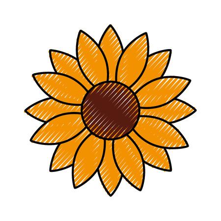 flower natural floral season icon vector illustration