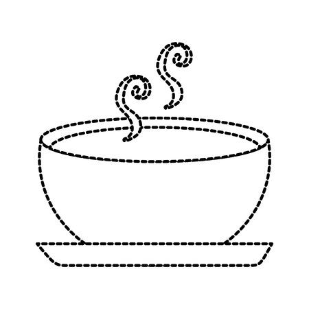 Köstliche Suppe Schüssel Lebensmittel der Saison Herbst Vektor-Illustration Standard-Bild - 86318386