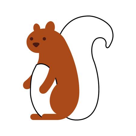 autumn season squirrel animal forest vector illustration Illustration