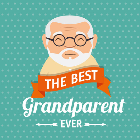 grandparents day greeting card vector illustration graphic design Ilustrace