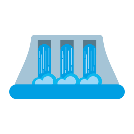 hydroelectricity power station alternative energy concept vector illustration