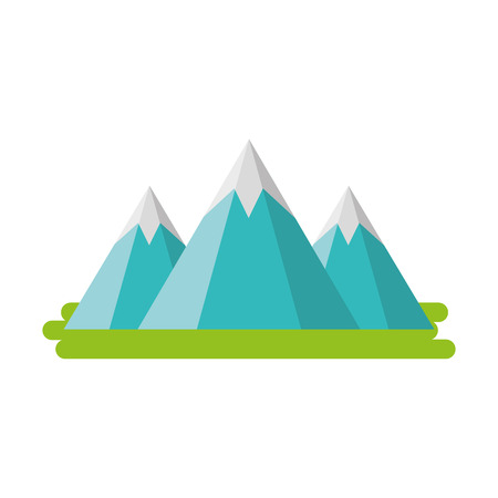 mountain peak natural land environment vector illustration Imagens - 86318458
