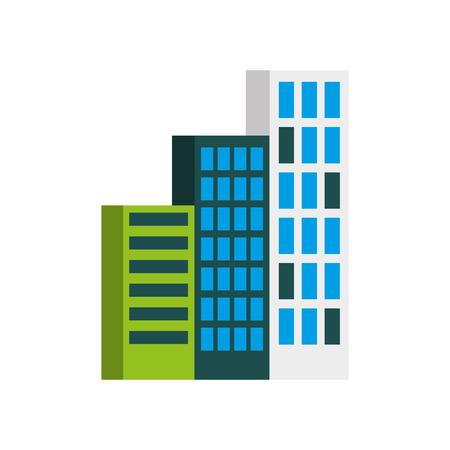 building business office or apartment residential urban structure vector illustration Ilustração
