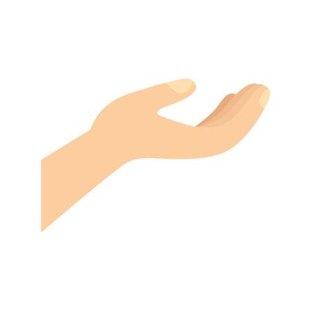 human hand gesture holding protection vector illustration Illustration
