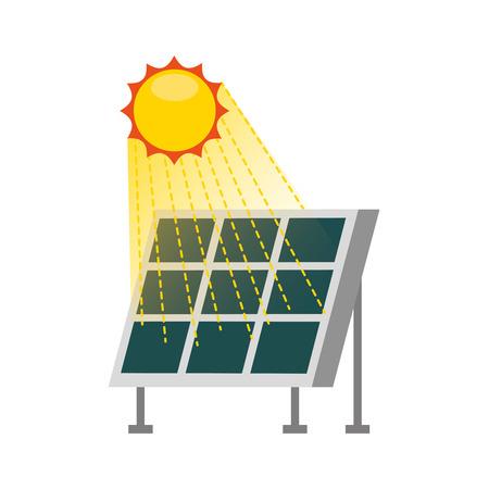 alternatieve energiebronnen van zonnepaneel moderne technologieën vector illustratie Stock Illustratie