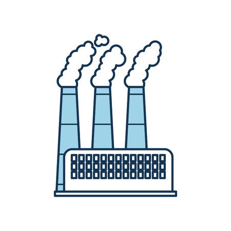 공장 및 공장 전원 및 연기 벡터 일러스트 레이 션을 구축하는 산업 공장 스톡 콘텐츠 - 86318499