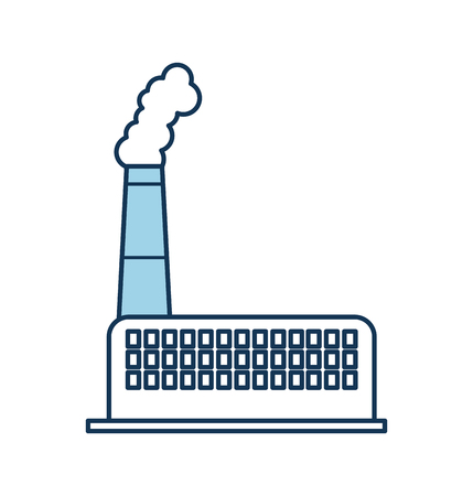 industry factory building plant and factory power and smoke vector illustration Illusztráció