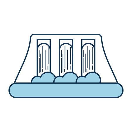 Wasserkraft Kraftwerk alternative Energie Konzept Vektor-Illustration Standard-Bild - 86318502