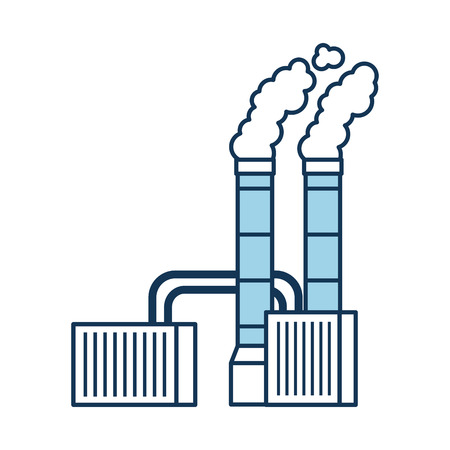 pollution from factory smoking industrial concept vector illustration Illusztráció