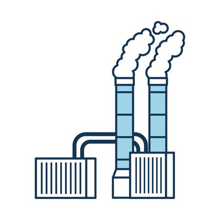 Verschmutzung von der Fabrik , die industrielles Konzept Vektor-Illustration raucht Standard-Bild - 86318504