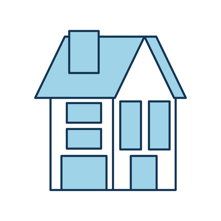 house residence property real estate architecture vector illustration