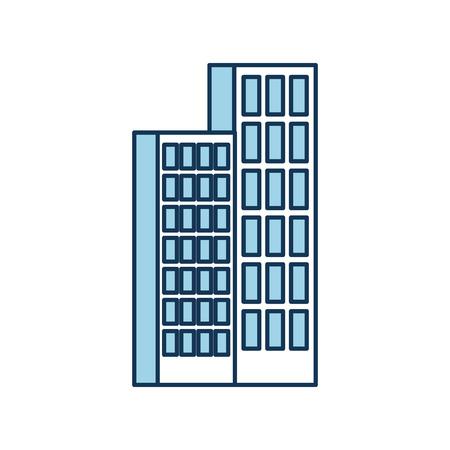 building business office or apartment residential urban structure vector illustration Illusztráció