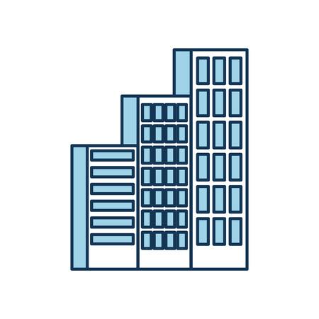 Gebäude Business Office oder Wohnung Wohn städtischen Struktur Vektor-Illustration Standard-Bild - 86318509