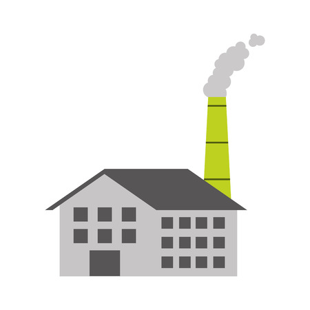 industry manufactory building producing oil and gas energy and power vector illustration