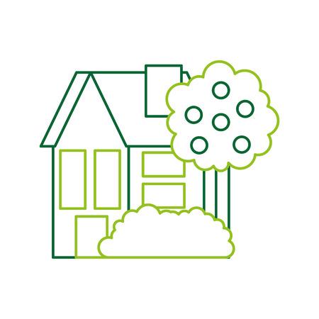 Haus Residenz Immobilien Immobilien Architektur Vektor-Illustration Standard-Bild - 86318518