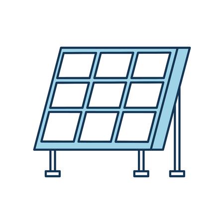 solar panel modern technologies alternative energy sources vector illustration