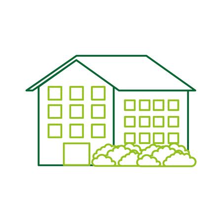 Haus Residenz Immobilien Immobilien Architektur Vektor-Illustration Standard-Bild - 86318527