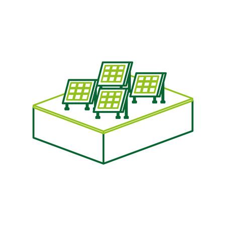 Illustrazione moderna di vettore di fonti di energia alternativa delle tecnologie del pannello solare Archivio Fotografico - 86318536