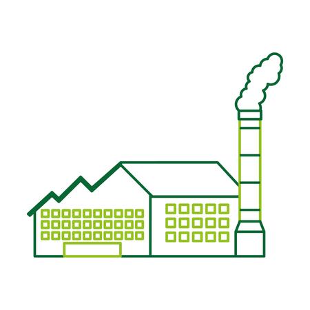 Industrie-Manufakturgebäude Herstellung von Öl und Gas Energie und Energie-Vektor-illustration Standard-Bild - 86318537