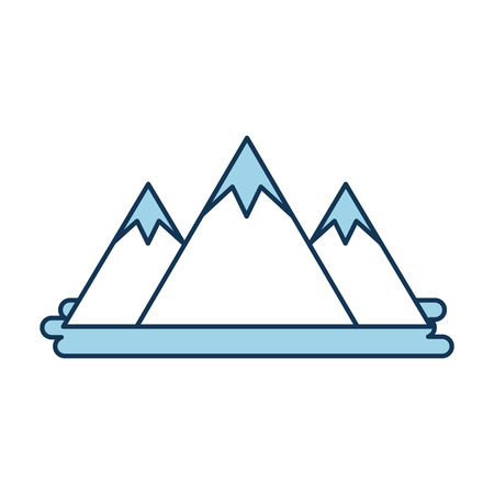 mountain peak natural land environment vector illustration Imagens - 86318545