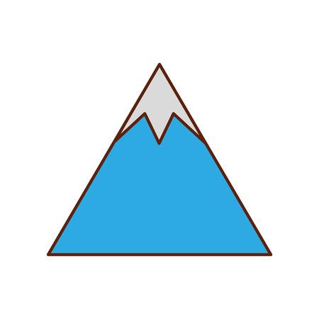 bergtop natuurlijke landomgeving vectorillustratie Stock Illustratie