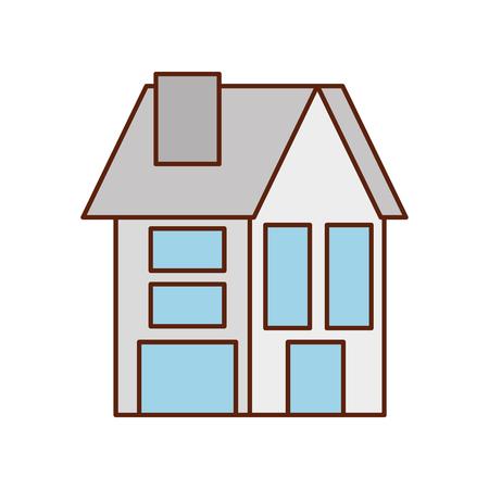 Haus Residenz Immobilien Immobilien Architektur Vektor-Illustration Standard-Bild - 86318557