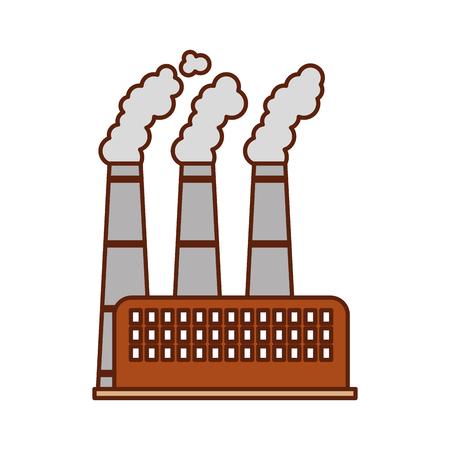 industrie fabriek bouw plant en fabrieks macht en rook vector illustratie