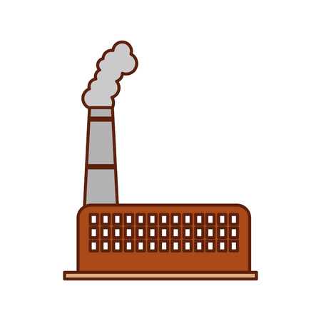 industry factory building plant and factory power and smoke vector illustration Illustration