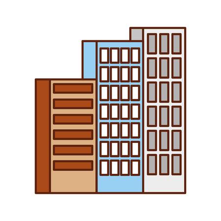 Gebäude Business Office oder Wohnung Wohn städtischen Struktur Vektor-Illustration Standard-Bild - 86318590