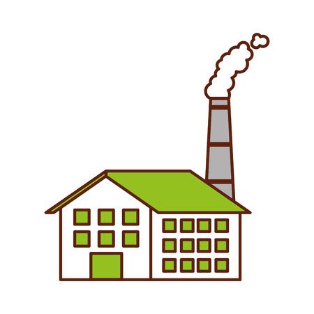 Industrie-Manufakturgebäude Herstellung von Öl und Gas Energie und Energie-Vektor-illustration Standard-Bild - 86318593