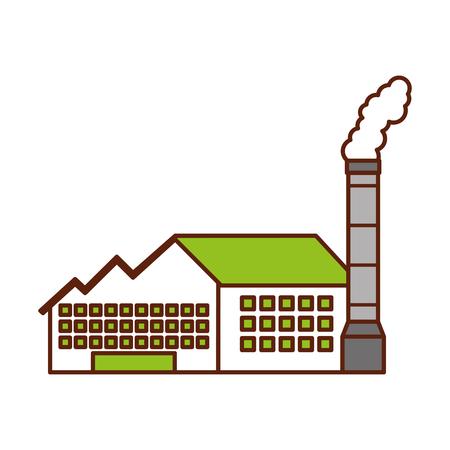 Usine usine usine de production et de l & # 39 ; industrie de la production et de la fumée illustration vectorielle Banque d'images - 86318599