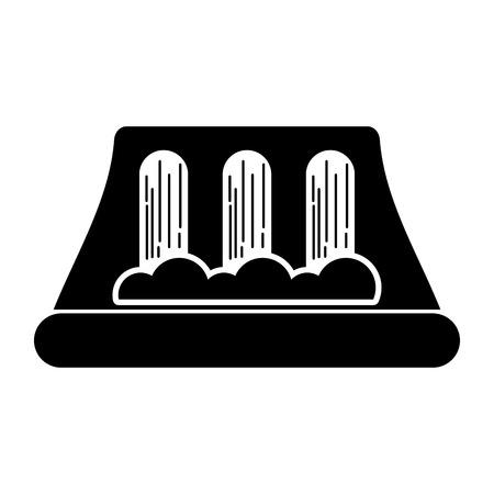 Ilustración de vector de energía alternativa de la estación de energía hidroeléctrica Foto de archivo - 86318600