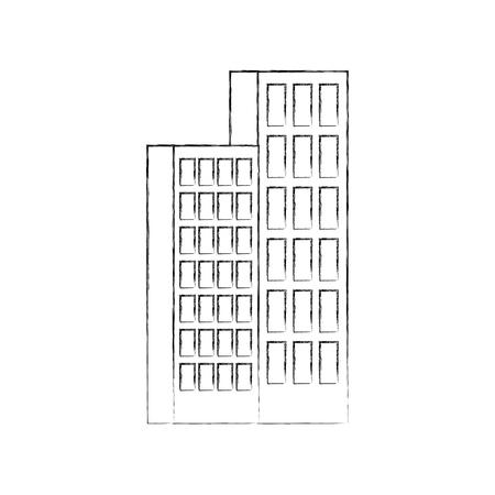 Gebäude Büro oder Wohnung Wohngebiet Stadtstruktur Vektor-Illustration Standard-Bild - 86318613