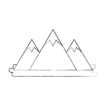 mountain peak natural land environment vector illustration Imagens - 86318615