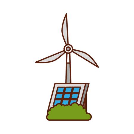 エネルギー再生可能な風車ベクトルイラストの代替源  イラスト・ベクター素材