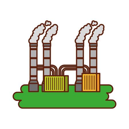 공장 흡연 산업 개념 벡터 일러스트 레이 션에서 오염 스톡 콘텐츠 - 86318626