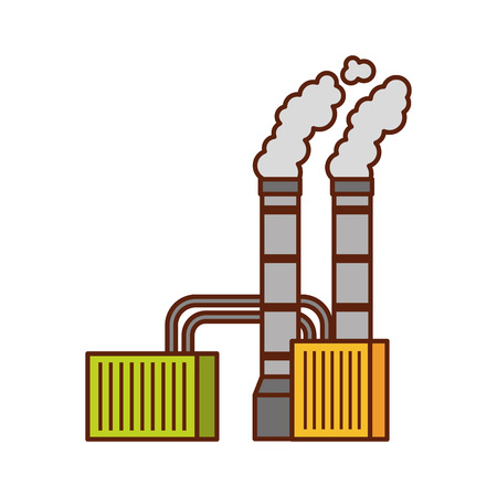 pollution from factory smoking industrial concept vector illustration Banco de Imagens - 86318627