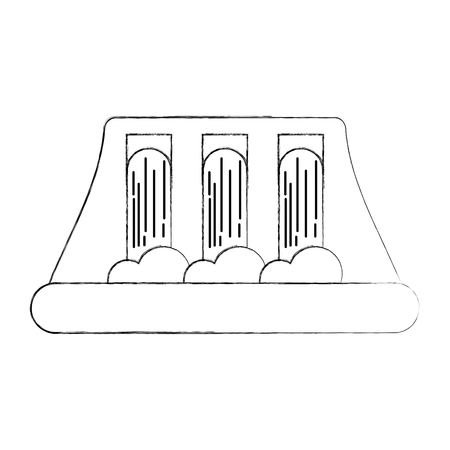 Idroelettrica centrale elettrica alternativa concetto di energia illustrazione vettoriale Archivio Fotografico - 86318630