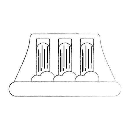 Ilustración de vector de concepto de energía hidroeléctrica de energía hidroeléctrica Foto de archivo - 86318630