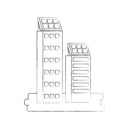 Gebäude Business Office oder Wohnung Wohn städtischen Struktur Vektor-Illustration Standard-Bild - 86318635