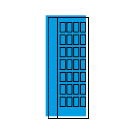 Gebäude Business Office oder Wohnung Wohn städtischen Struktur Vektor-Illustration Standard-Bild - 86318641