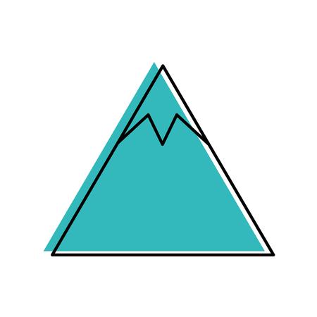 mountain peak natural land environment vector illustration