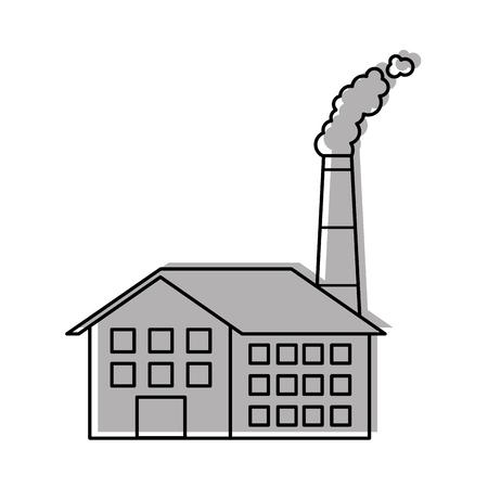 Industrie-Manufakturgebäude Herstellung von Öl und Gas Energie und Energie-Vektor-illustration Standard-Bild - 86318646