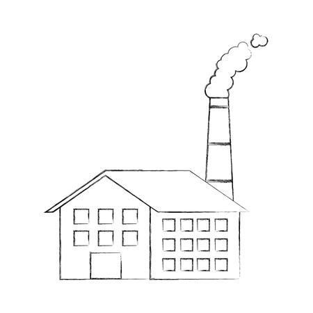 Industrie-Manufakturgebäude Herstellung von Öl und Gas Energie und Energie-Vektor-illustration Standard-Bild - 86318652