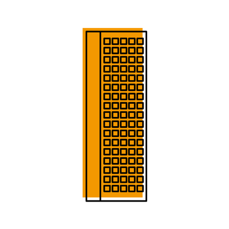 building business office or apartment residential urban structure vector illustration Ilustrace