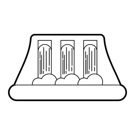 waterkrachtcentrale alternatieve energieconcept vectorillustratie