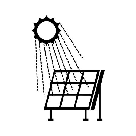 Illustrazione moderna di vettore di fonti di energia alternativa delle tecnologie del pannello solare Archivio Fotografico - 86318669