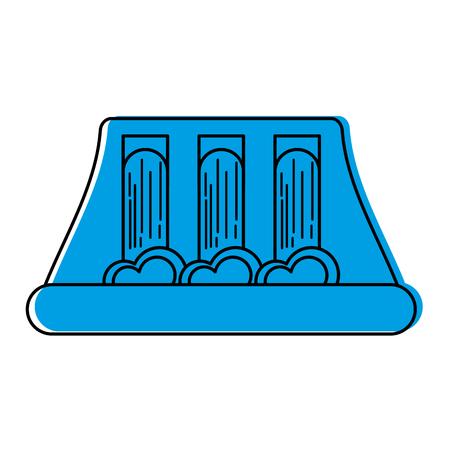Ilustración de vector de concepto de energía hidroeléctrica de energía hidroeléctrica Foto de archivo - 86318688