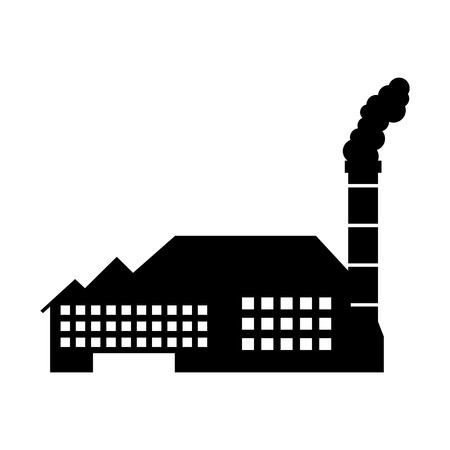 Usine usine usine de production et de l & # 39 ; industrie de la production et de la fumée illustration vectorielle Banque d'images - 86318691
